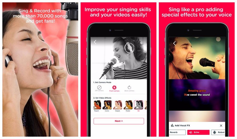Ứng dụng hát karaokeRed Karaoke Sing & Record