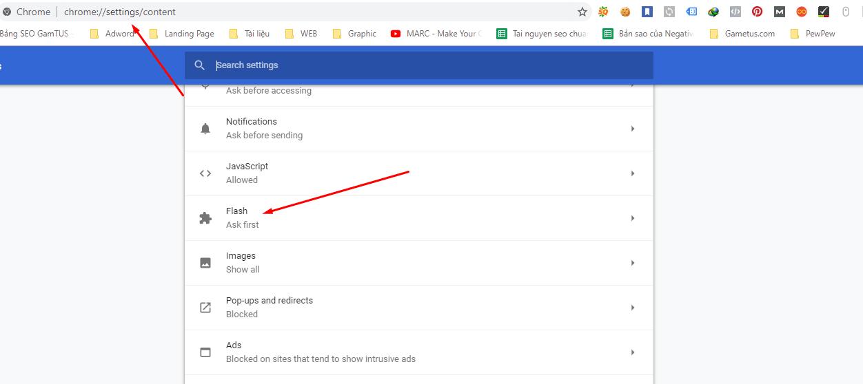 Hướng dẫn sửa lỗi Flash bị chặn do lỗi thời trên Chrome