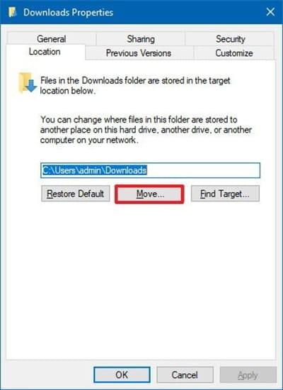 Hướng dẫn di chuyển thư mục mặc định trên Windows 10 1