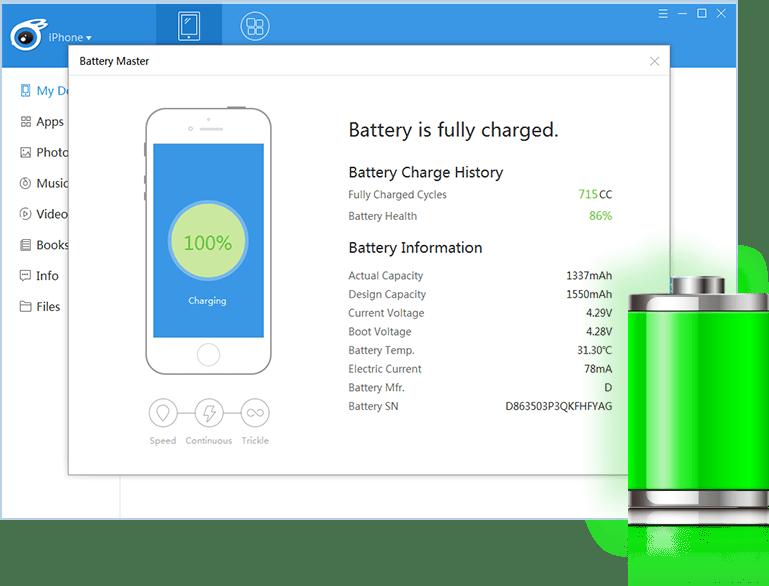 iTools - Quản lý pin iPhone triệt để hơn