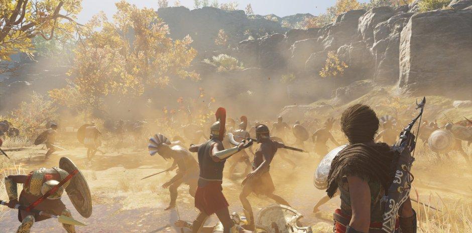 Hình ảnh chiến đấu trong game Assassin's Creed Odyssey