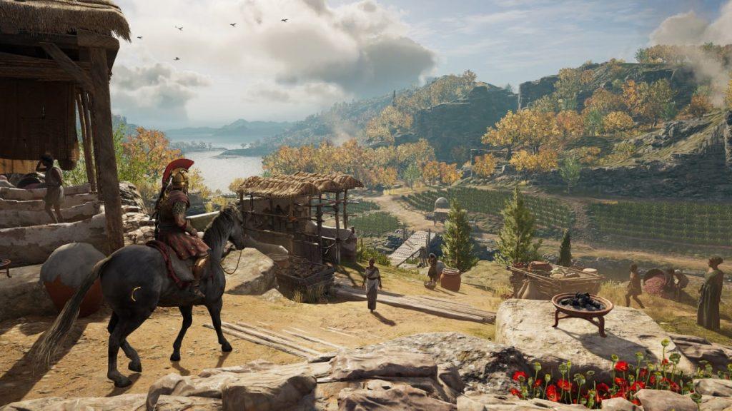 Quang cảnh trong game assassin's creed odyssey với đồ họa chất lừ