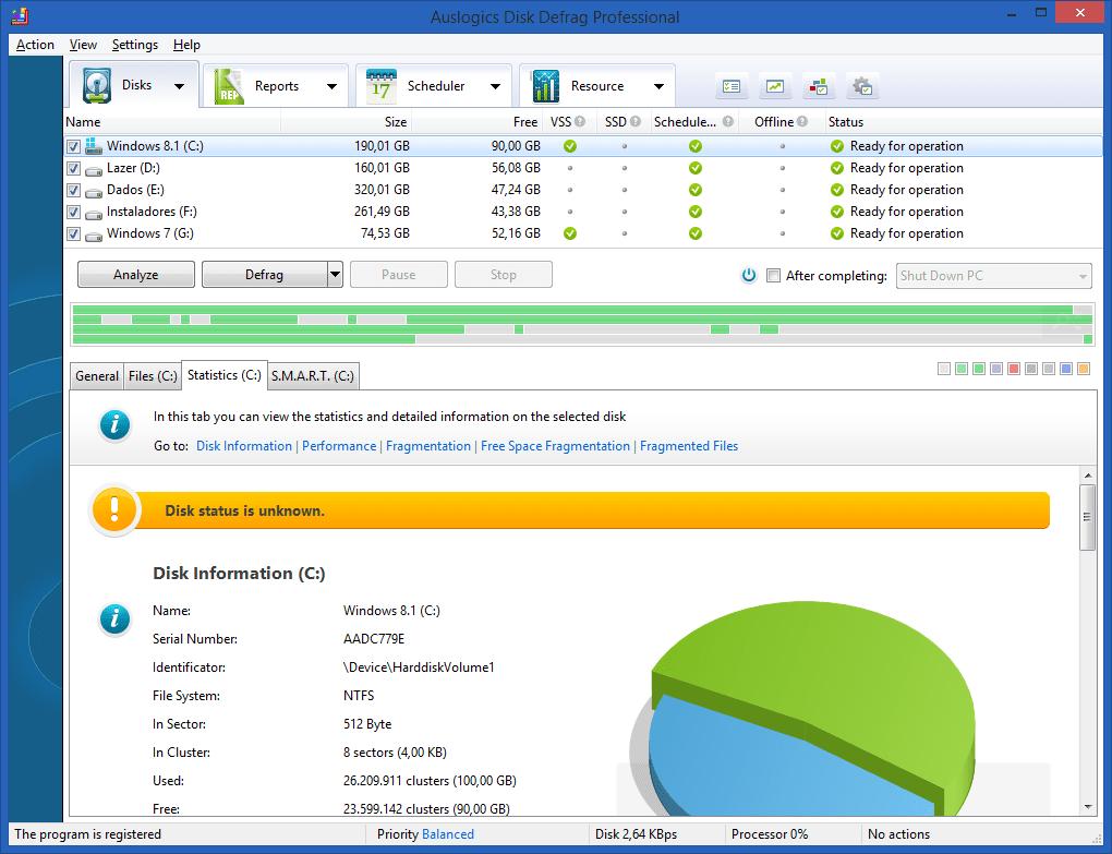 Phần Mềm Chống Phân Mảnh Ổ Đĩa AusLogics Disk Defrag Pro