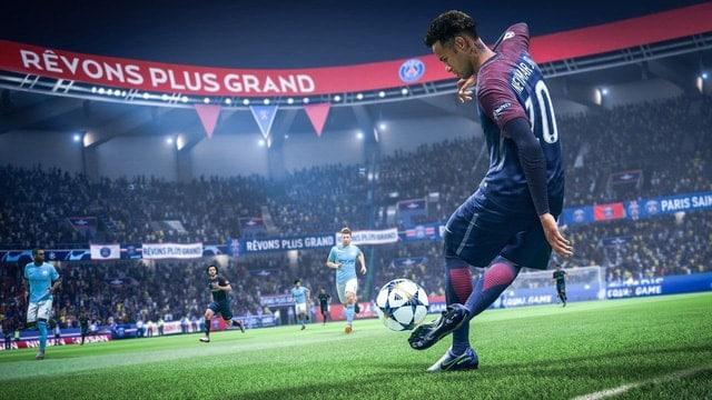 Một hình ảnh trong game fifa 19