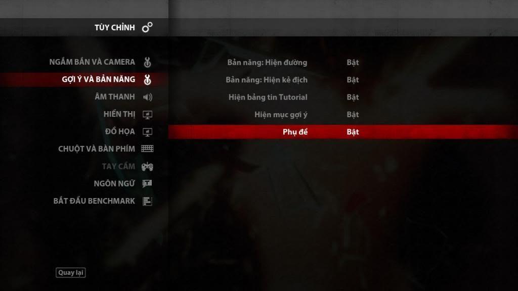 Hướng dẫn bật phụ đề game Hitman Absolution
