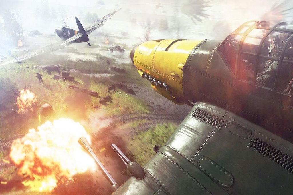 Cảnh chiến đấu máu lửa trong game Battlefield V