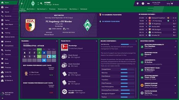 Bản quyền giải đấu Bundesliga chính thức trong football manager 2019