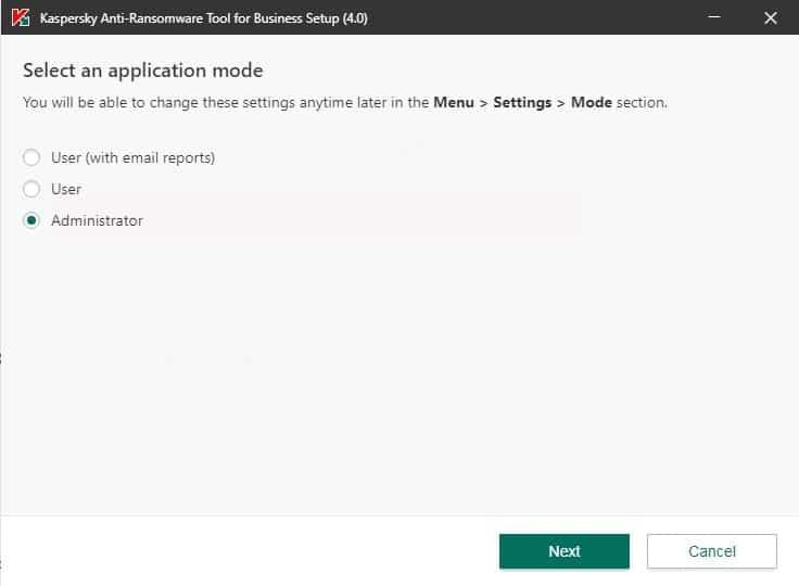 Tiến hành cài đặt phần mềm Kaspersky Anti Ransomware Tool