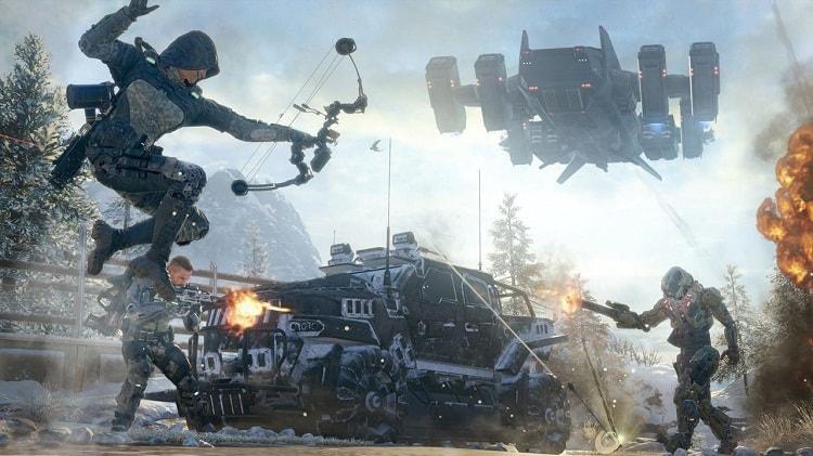 Chiến đấu trong game Call of Duty Black Ops 3