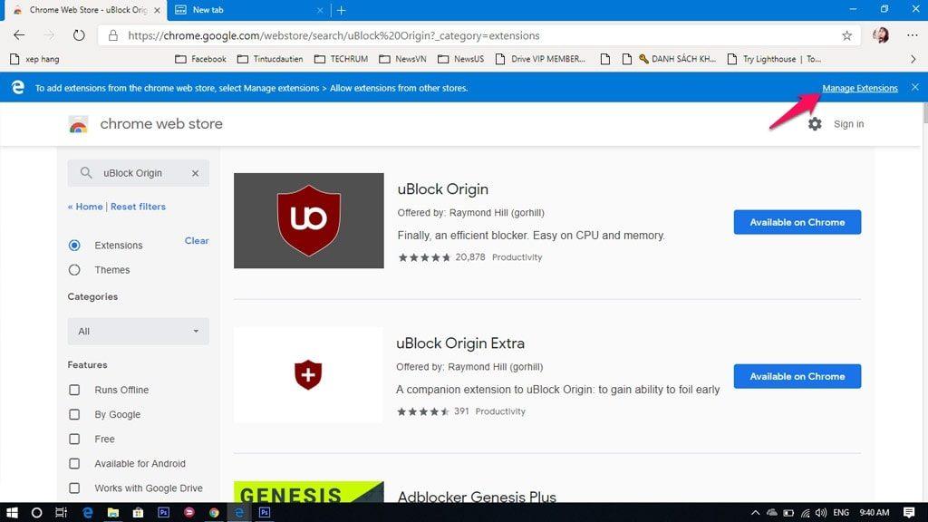 Kho tiện ích trên Microsoft Edge Chromium rất đa dạng