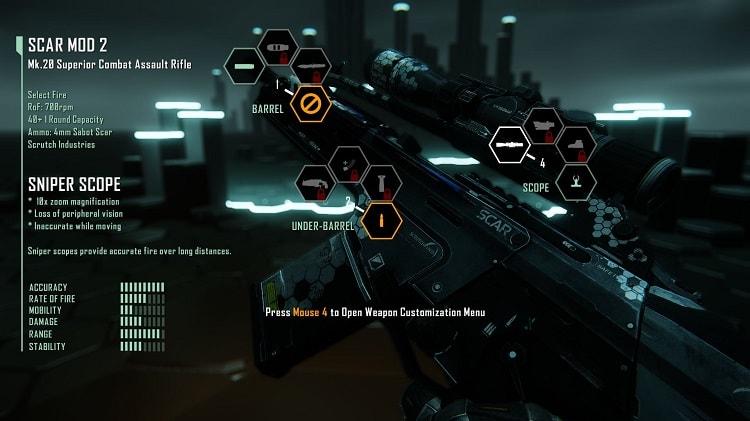 Hình ảnh súng trong game Crysis 3