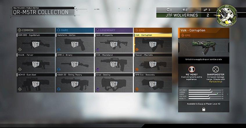 Hệ thống vũ khí trong game Call of Duty Infinite Warfare