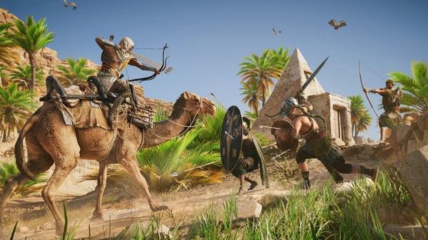 Cảnh chiến đấu trong game Assassin's Creed Origins