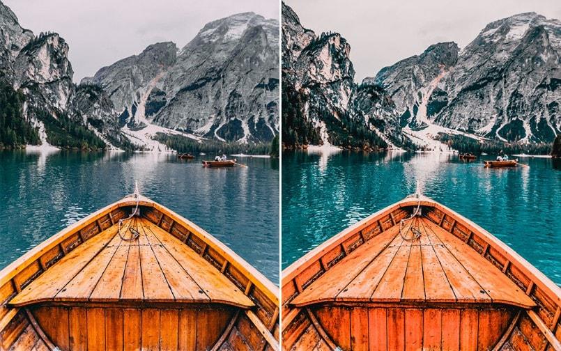 Lightroom Preset tông màu xanh đậm cho ảnh du lịch