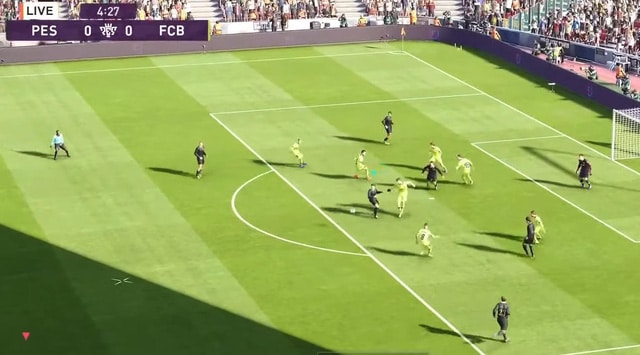Màn hình play game của eFootball PES 2020