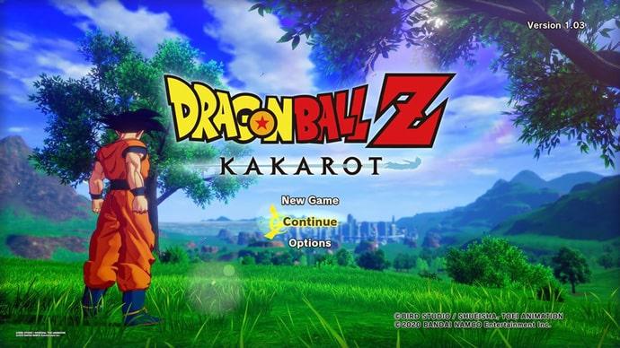 Màn hình vào game Dragon Ball Z Kakarot