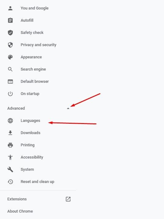 Tiến hành cài đặt Tiếng Việt trên Google Chrome