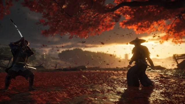 Đồ họa cực đẹp trong game Ghost of Tsushima