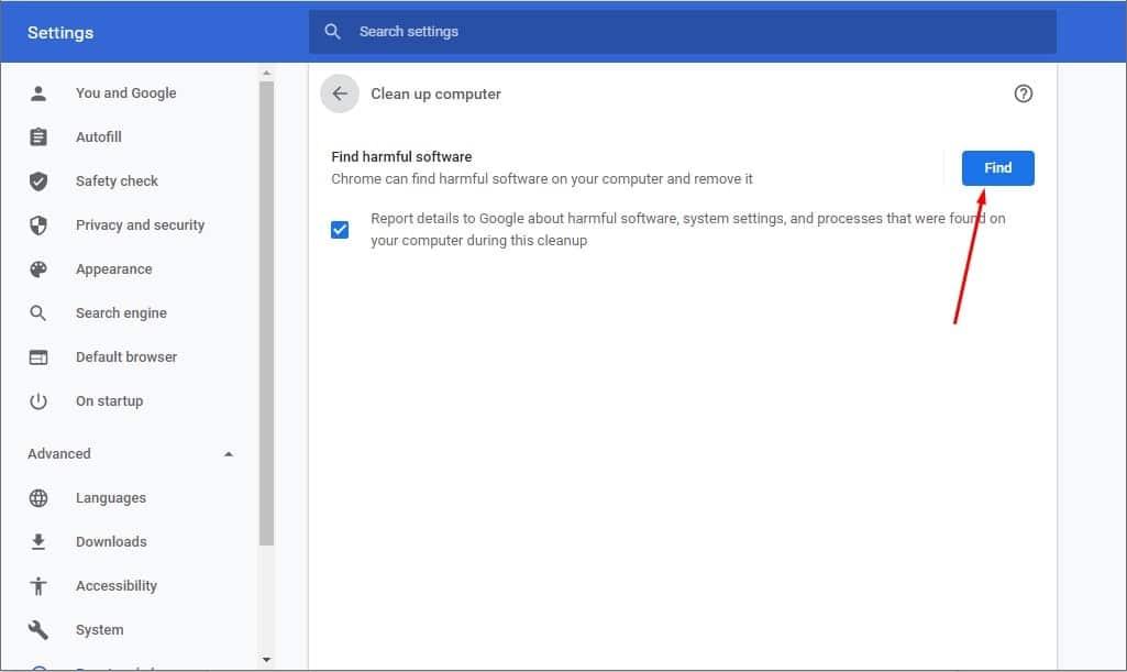Cách quét virus trên google chrome 2